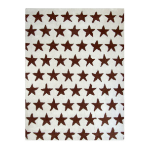 Brown and Ivory Stars Rug