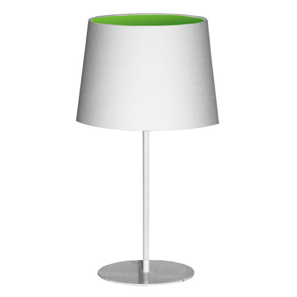 Metal Upright Lamp Inverted - Lime Green