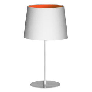 Metal Upright Lamp Inverted - Orange