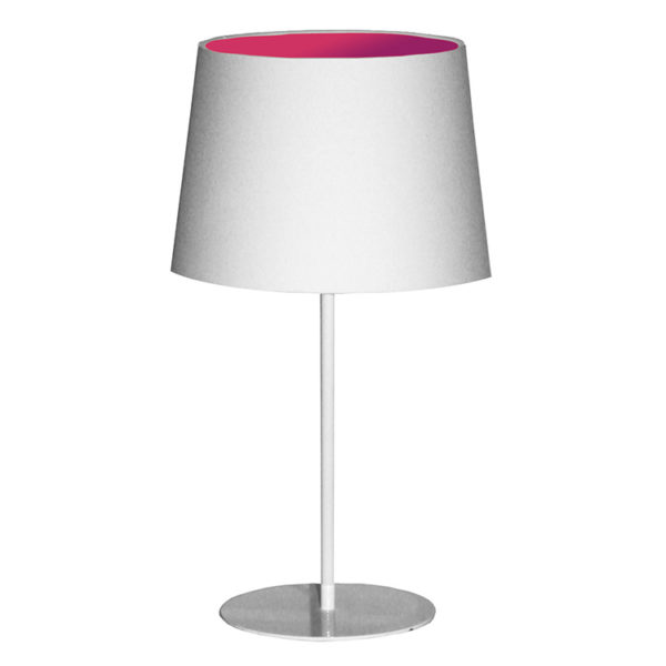 Metal Upright Lamp Inverted - Pink