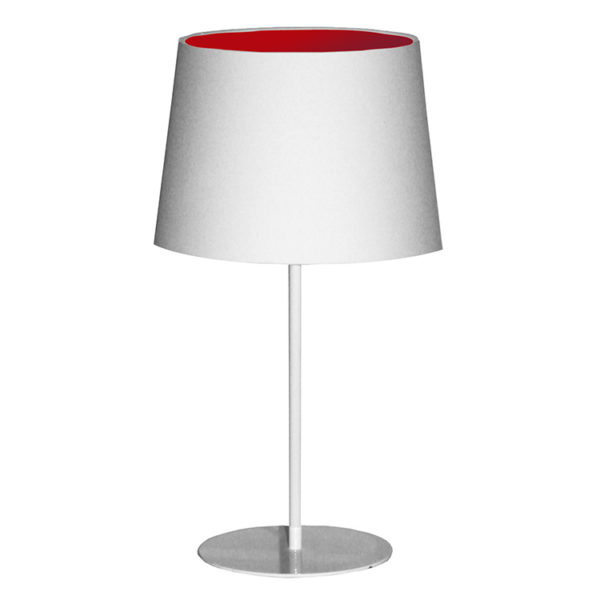 Metal Upright Lamp Inverted - Red