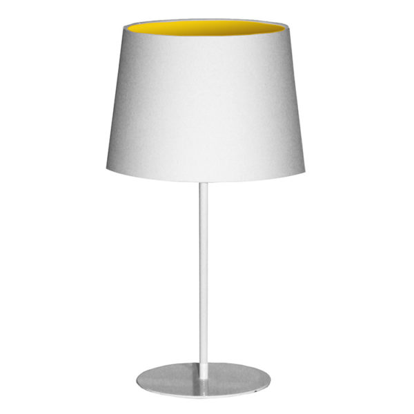 Metal Upright Lamp Inverted - Yellow