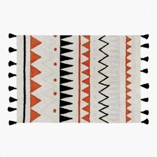 Lorena Canals Aztec Natural Rug - Vintage Terracotta