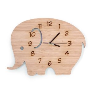 Bamboo Clock - Elephant by Bunni