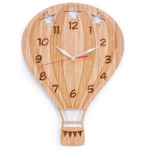 Bamboo Clock - Hot Air Balloon by Bunni