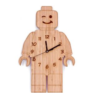 Bamboo Clock - Lego Man