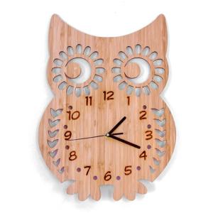 Bamboo Clock - Owl