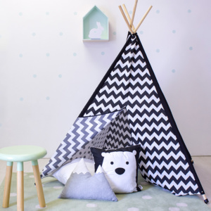 Black & White Chevron Teepee