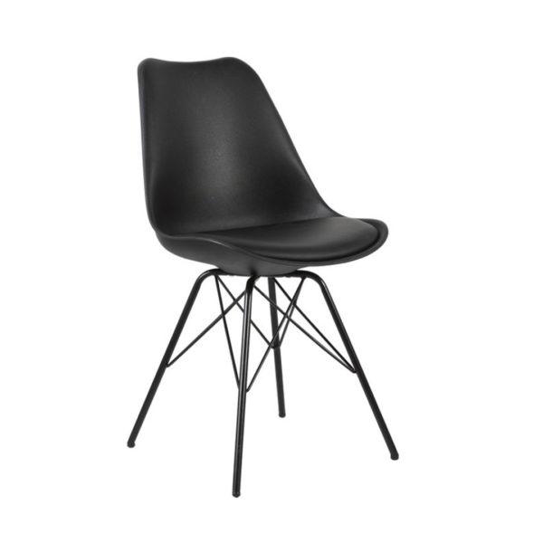 Black Eames Style Metal Chair