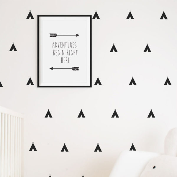 Simply Child Teepees Decals - Black
