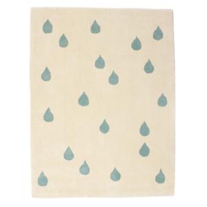 Blue Raindrop Rug