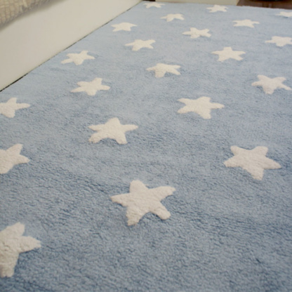 Blue With White Stars Rug