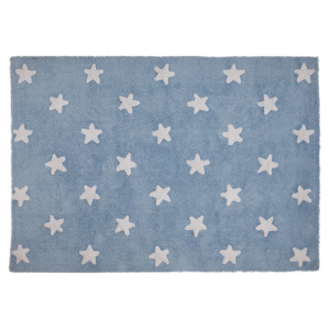 Blue Rug with white stars - Lorena Canals