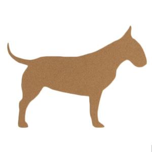 Bull Terrier Cork Board