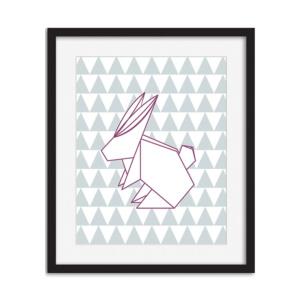 Art Print - Origami Bunny