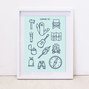 Art Print - Camping 101 - Turquoise