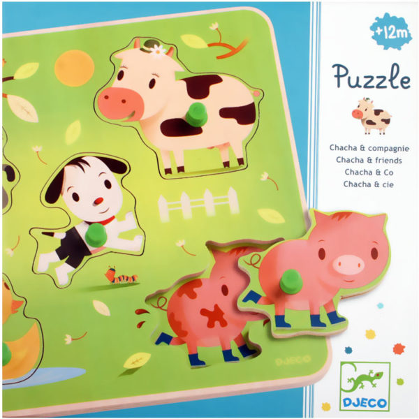 Chacha and Co Wooden Relief Puzzle