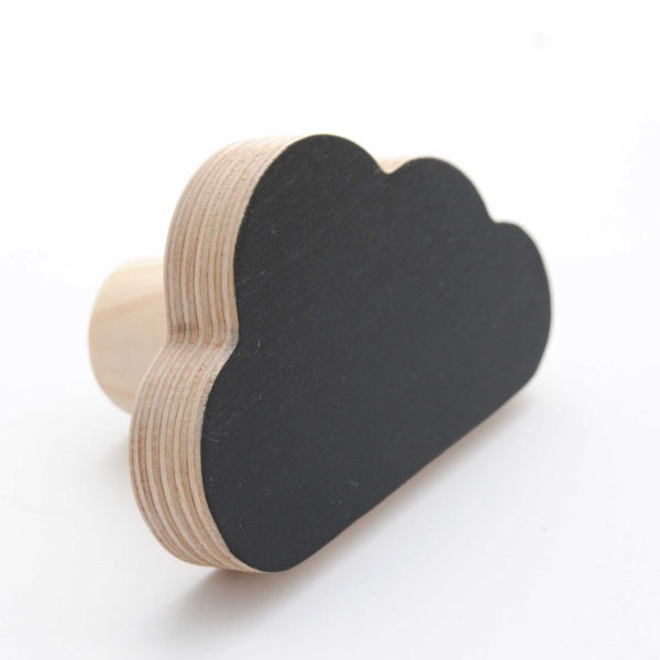 Simply Child Wall Hook - Cloud - Black