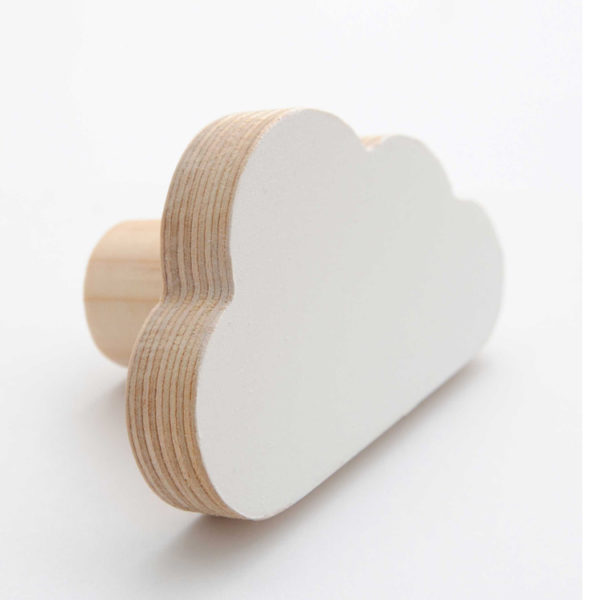 Simply Child Wall Hook - Cloud - White
