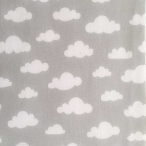 Clouds on Grey Fabric