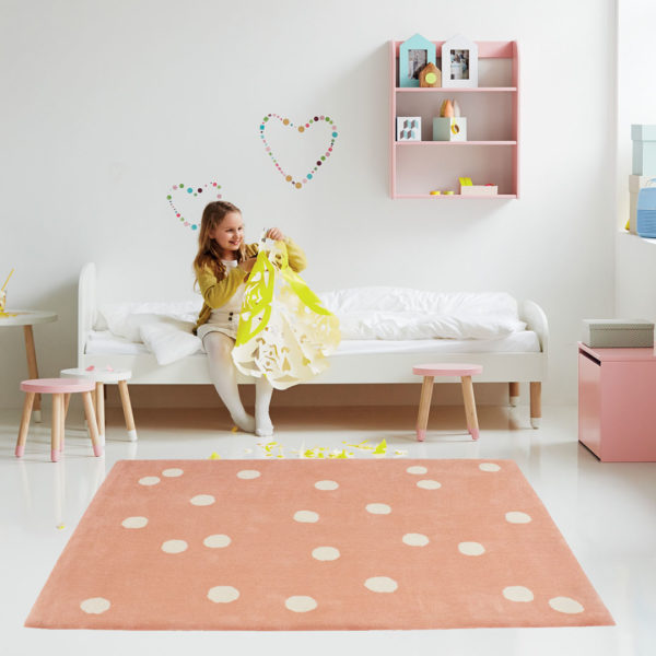 Coral Wild Dot Rug
