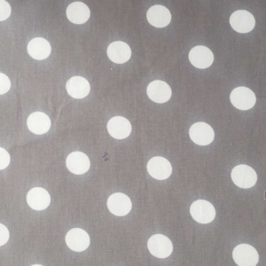 Dark Grey Polka Fabric