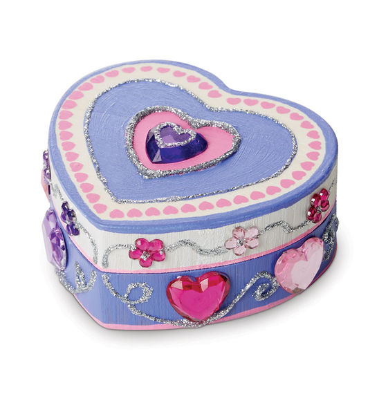 Decorate wooden heart box