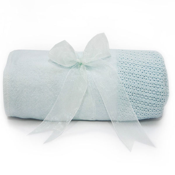 Cellular Baby Blanket - Blue