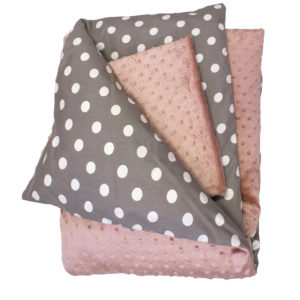 Bunni Dusty Rose Shimmer Cot Set