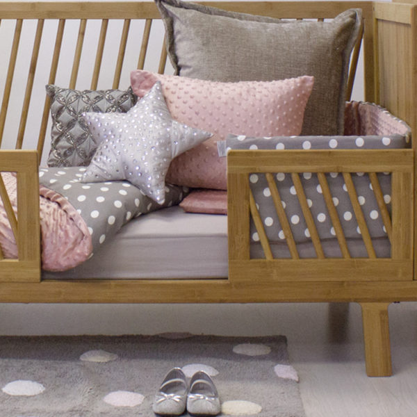 Dusty Rose Shimmer Cot Set