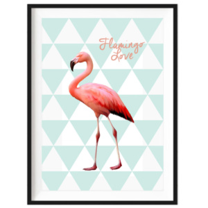 flamingo-love-decor-print