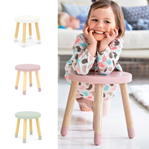 PLAY Stool - White/Rose/Mint
