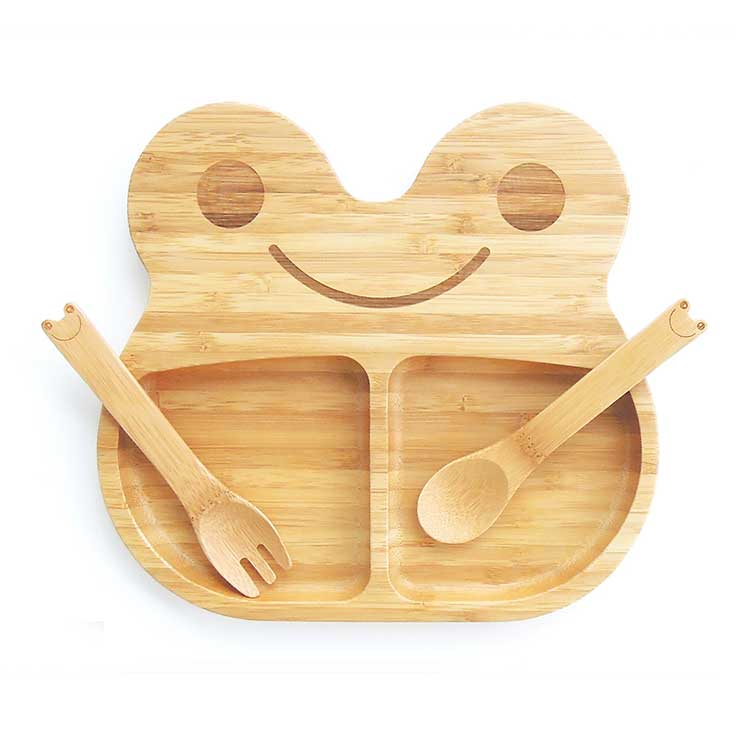 sc 1 st  Clever Little Monkey & Bamboo Plate and Cutlery - Frog - Clever Little Monkey