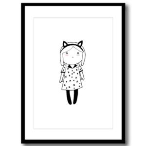 Art Print - Cat Girl