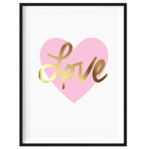 Art Print - Gold Foil Love