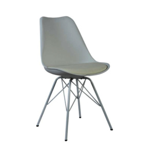 Grey Eames Style Metal Chair