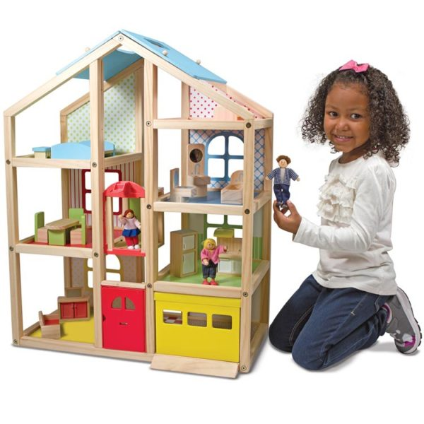 Hi Rise Wooden Doll House