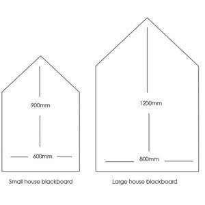 House Blackboard Sizes