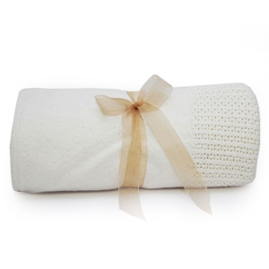 Cellular Baby Blanket - Ivory