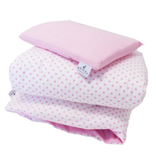 Pink Dot Cot Set