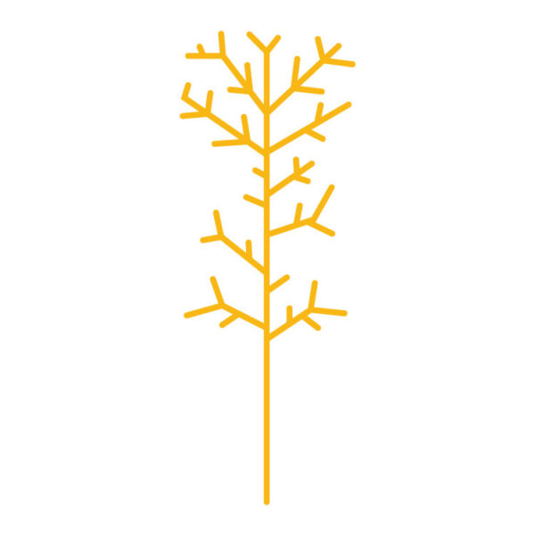 Bunni Straight Tree Large Decal - Yellow