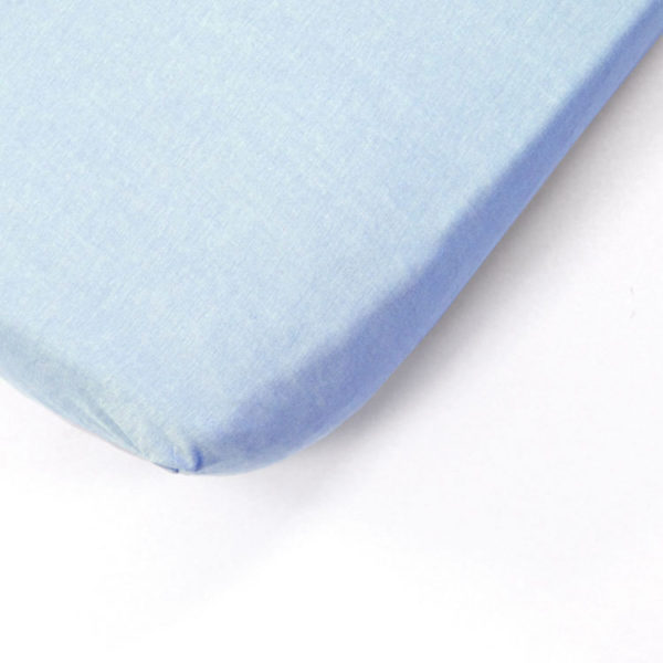 Ice Blue Cot Fitted Sheet