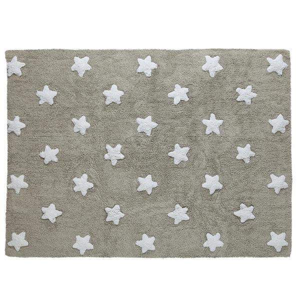 Stars Grey & White Rug