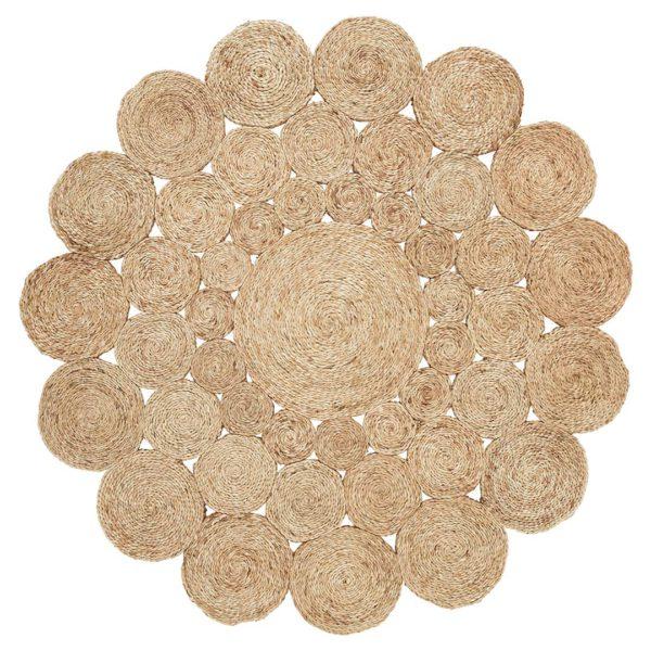 Camellia Flower Weave Natural Rug