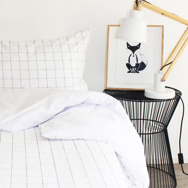 Phlo Grid Duvet - White Back