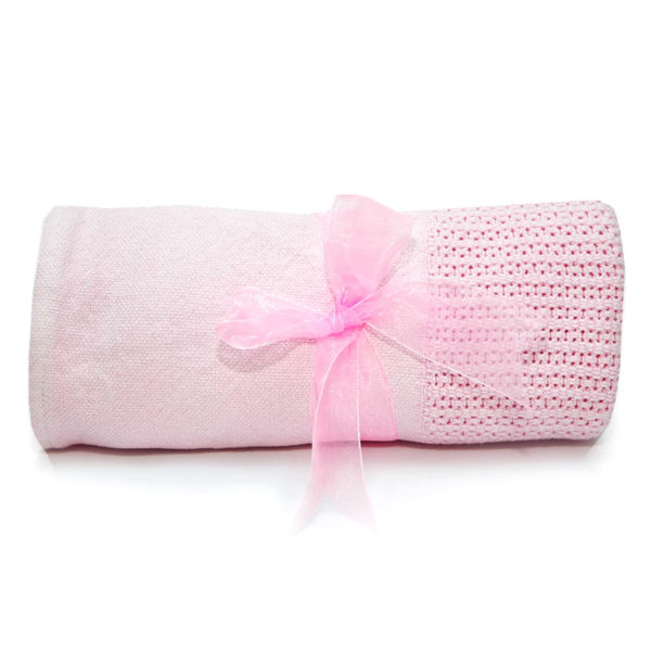 Cellular Baby Blanket - Pink