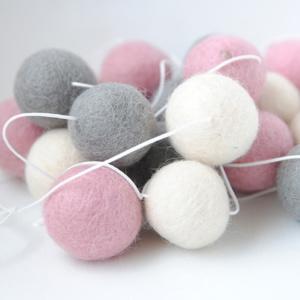 Felt Garland - Grey & Pink