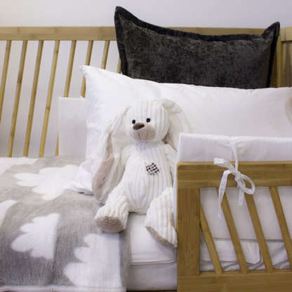 Pure White Cot Set