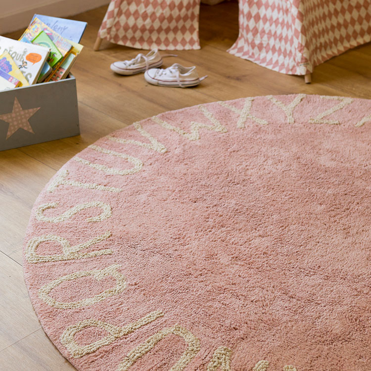 ABC Rug Pink Round ABC Rug Nude Lorena Canals 2 ...