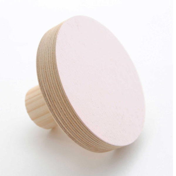 Simply Child Wall Hook - Round - Pink